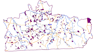 карта земель неразграниченной госсобственности, которой распоряжается муниципалитет, свободных от прав третьих лиц
